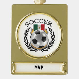Mexico Soccer 2016 Fan Gear Gold Plated Banner Ornament