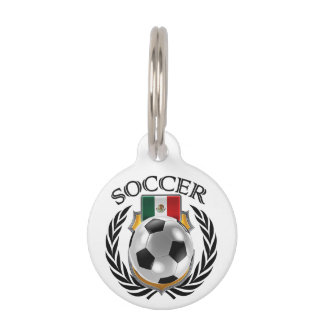 Mexico Soccer 2016 Fan Gear Pet Name Tag