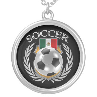 Mexico Soccer 2016 Fan Gear Silver Plated Necklace