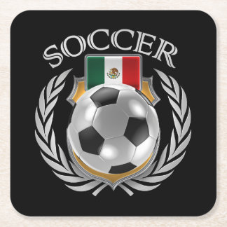 Mexico Soccer 2016 Fan Gear Square Paper Coaster