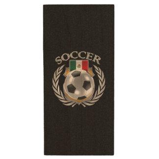 Mexico Soccer 2016 Fan Gear Wood Flash Drive