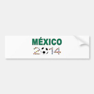 Mexico Soccer 2340 Bumper Sticker