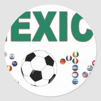 Mexico Soccer 2340 Classic Round Sticker