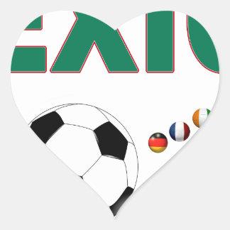 Mexico Soccer 2340 Heart Sticker