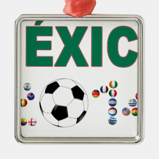 Mexico Soccer 2340 Metal Ornament