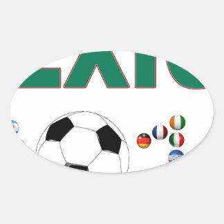 Mexico Soccer 2340 Oval Sticker