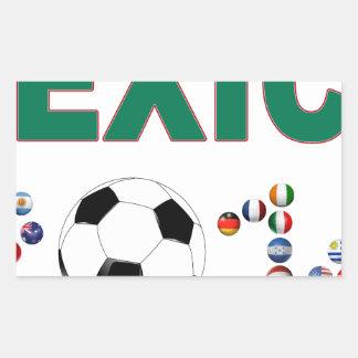 Mexico Soccer 2340 Rectangular Sticker