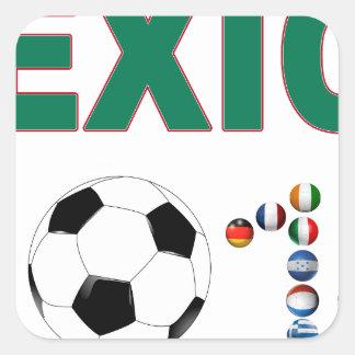 Mexico Soccer 2340 Square Sticker