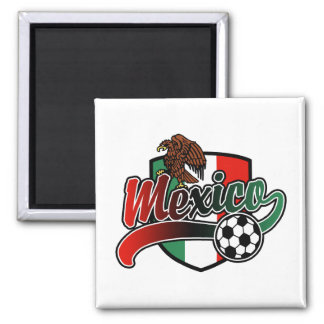 Mexico Soccer 2 Inch Square Magnet