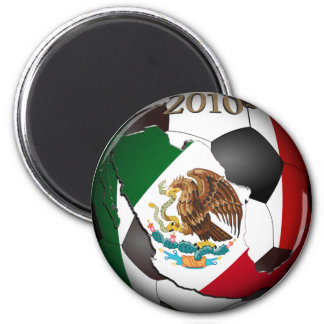 Mexico Soccer Ball 2 Inch Round Magnet