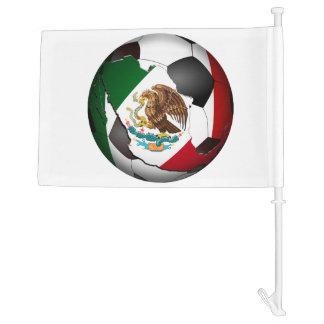 Mexico Soccer Ball Car Flag