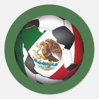 Mexico Soccer Ball Classic Round Sticker