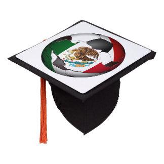 Mexico Soccer Ball Graduation Cap Topper
