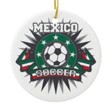 Mexico Soccer Burst Christmas Tree Ornament