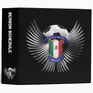 Mexico Soccer Champions 3 Ring Binder