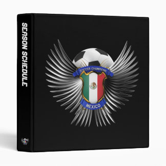 Mexico Soccer Champions 3 Ring Binders