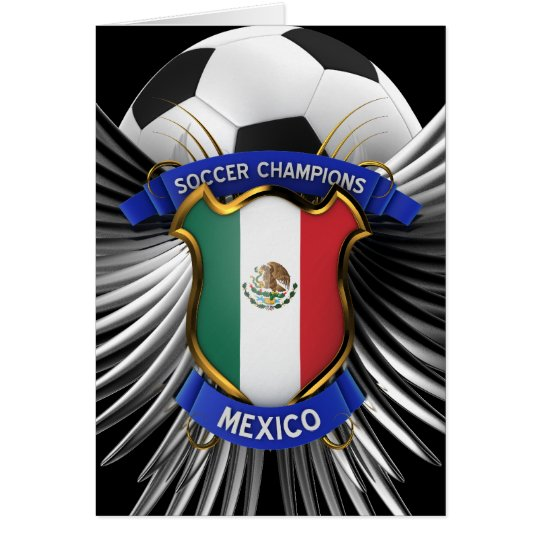 Mexico Soccer Champions Card