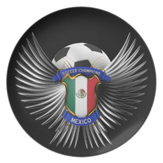 Mexico Soccer Champions Dinner Plate