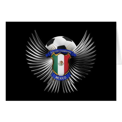 Mexico Soccer Champions Greeting Card