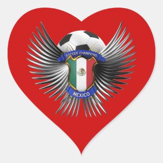 Mexico Soccer Champions Heart Sticker