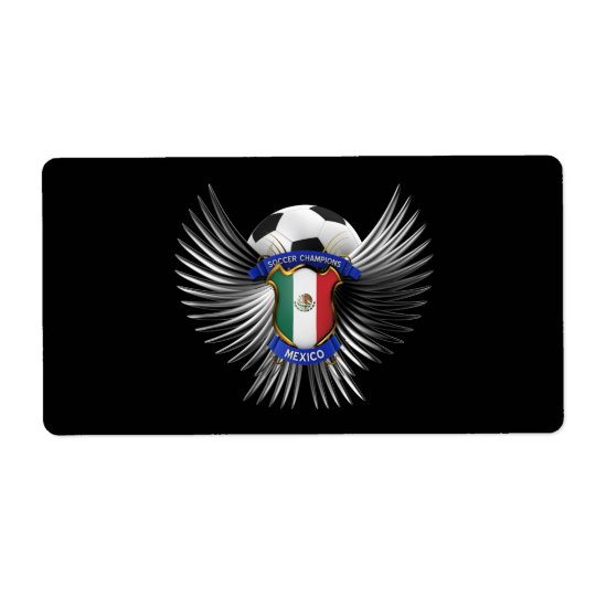 Mexico Soccer Champions Label