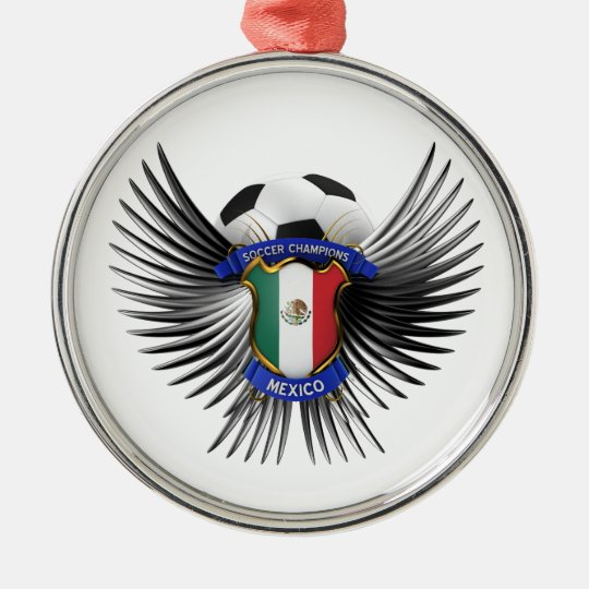 Mexico Soccer Champions Metal Ornament