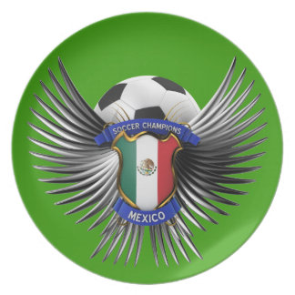 Mexico Soccer Champions Party Plate