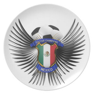 Mexico Soccer Champions Party Plates