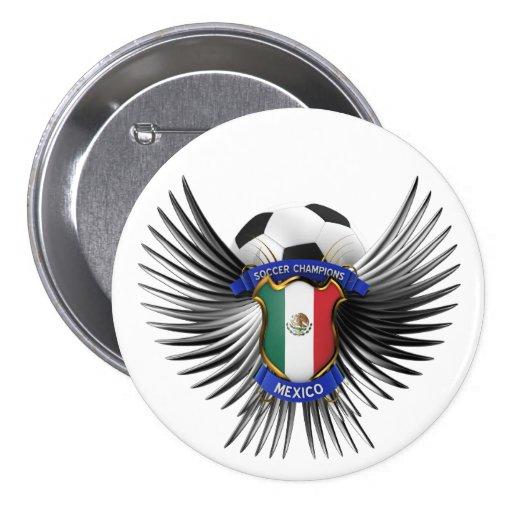 Mexico Soccer Champions Pinback Button
