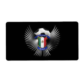 Mexico Soccer Champions Shipping Label