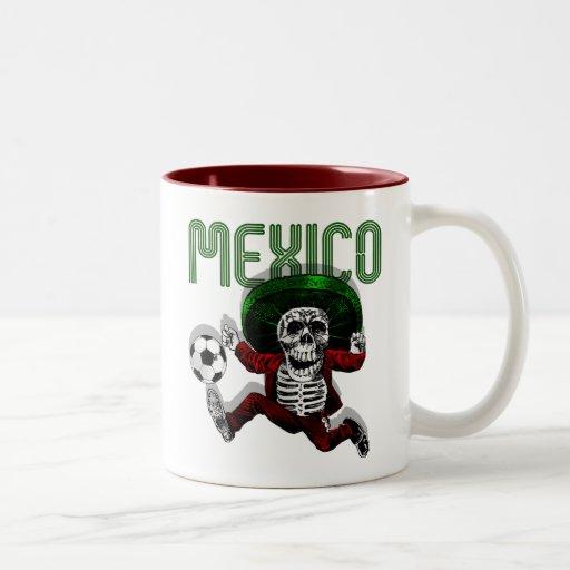 Mexico Soccer El tri Futbol Beyond Death gifts Two-Tone Coffee Mug