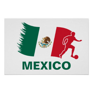 Mexico Soccer Flag Poster