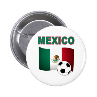 mexico soccer football world cup 2010 2 inch round button