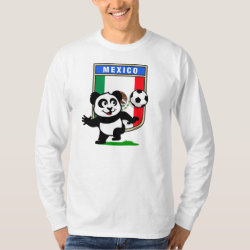 Men's Basic Long Sleeve T-Shirt with Mexico Football Panda design