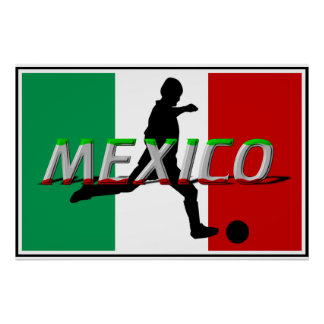 Mexico Soccer Poster