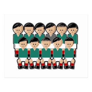 Mexico soccer team.ai postcard