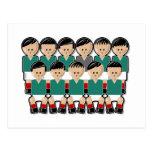 Mexico soccer team.ai tarjetas postales