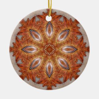 Mexico Sol Kaleidoscope Medallion Ceramic Ornament