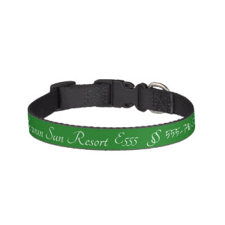 Mexico Sonoran Sun Resort Owners Green Pet Collar