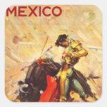 Mexico Square Stickers