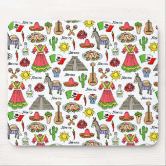 Mexico | Symbols Pattern Mouse Pad