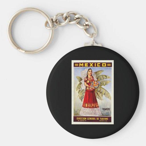Mexico Tehuantepec Basic Round Button Keychain
