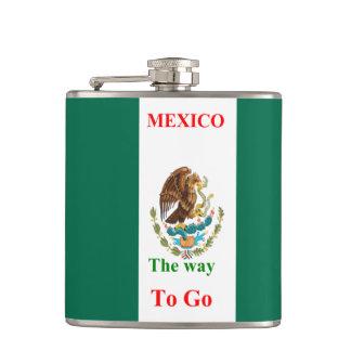 Mexico travel hip flasks