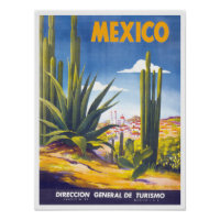 1930s Mexico Tehuantepec Classic Vintage Style Travel Poster 20x30