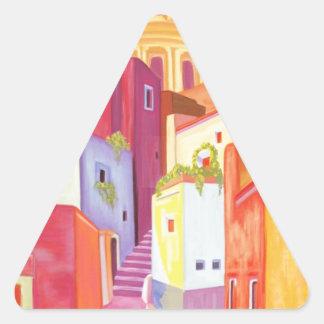 Mexico Travel Poster Triangle Sticker