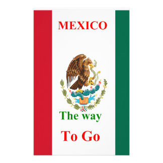 Mexico travel personalized stationery