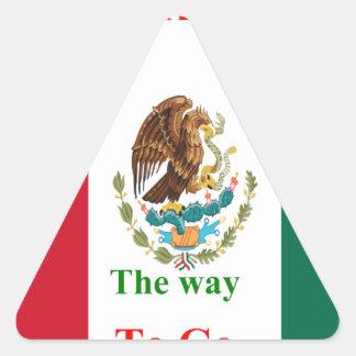 Mexico travel triangle sticker