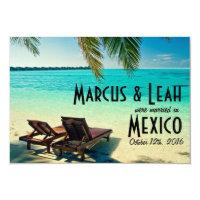 Mexico Tropical Beach Wedding Announce/Invite Invitation