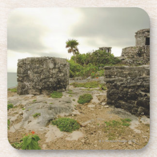 Mexico, Tulum, ancient ruins Beverage Coaster