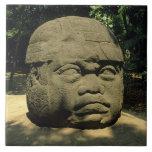 México, Villahermosa, cabeza gigante de Olmec, La  Tejas Cerámicas